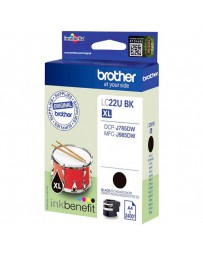 INK JET BROTHER ORIG LC22UBKBP DCPJ785DW