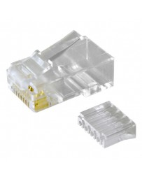 CONECTOR RJ45 UTP (8P8CR) MACHO CATEGORIA 6