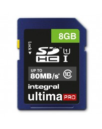 SDHC INTEGRAL 8GB CLASS10 U-PRO 80MB/S READ*