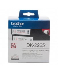 CINTA BROTHER PAPEL CONTINUO 62 MM DK22251