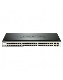 SWITCH D-LINK 48 PORT GIGABIT SMART+ 4MINI-GBIC SFP