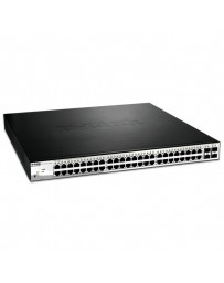 SWITCH D-LINK 48 PORT GIGABIT SMART+ 4 SFP 370W POE BUDGET
