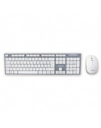 TECLADO+RATON APPROX WIRELESS WHITE APPKBWELEGANT*