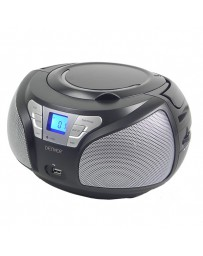 RADIO PORTATIL DENVER BOOMBOX CD/MP3 FM + AUX + USB BLACK