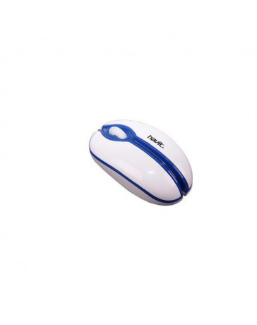 RATON HAVIT HV-MS316 BLANCO/AZUL USB
