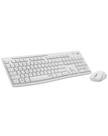 TECLADO+RATON LOGITECH WIRELESS MK295 BLANCO CRUDO