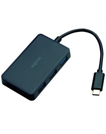 HUB APPROX USB TIPO C CON 4 USB 3.2 APPH4P3C