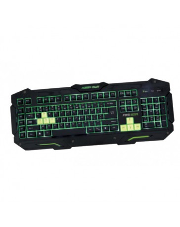 TECLADO KEEP OUT GAMING 3 PROF / 8 KEYS F89S*