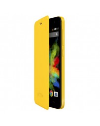 FUNDA WIKO CON TAPA BLOOM AMARILLO