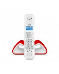 TELEFONO SPC INALAMBRICO CURVE 7706R BLANCO/ROJO CON AGENDA*