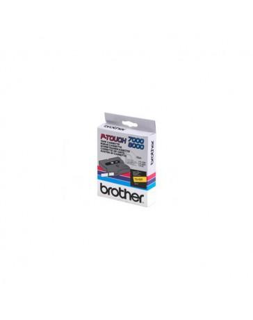 CINTA BROTHER ORIG. TX621 9MM AMARILLO/NEGRO