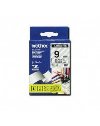 CINTA BROTHER ORIG.TZ121/E TRANSP./NEGRO 9MM