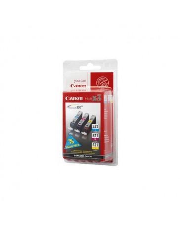 INK JET CANON ORIG. CLI 521P CYAN+MAG+AMAR.