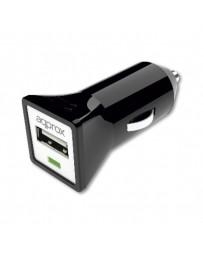CARGADOR APPROX USB MECHERO COCHE APPUSBCARB NEGRO
