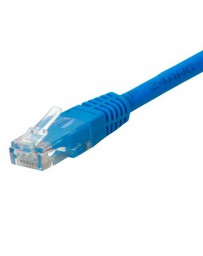 LATIGUILLO UTP/RJ45 0.25 MTR FLEXIBLE CAT6 AZUL