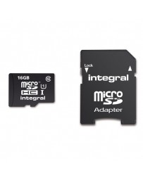 MICRO SDHC INTEGRAL 16GB + ADAP SD CLASS10*