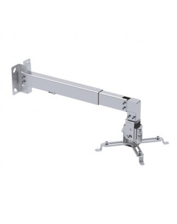 SOPORTE PARED PROYECTOR INCLINABLE EXTENSIBLE PLATA