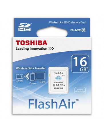 SDHC WIRELESS LAN TOSHIBA FLASHAIR 16GB CLASE 10