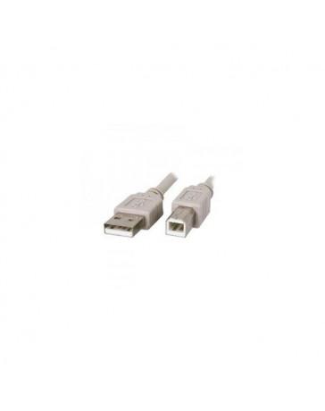 CABLE USB TIPO A/B 3 METROS M/M GRIS/TRAN 2.0